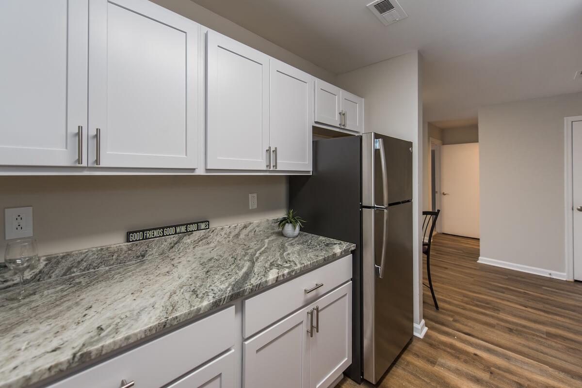 Kitchen Area with fridge